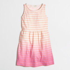 J.Crew Crewcuts Factory Girls Stripe Dip Dye Dress